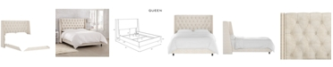 Skyline Nail Button Tufted Wingback Bed - Queen