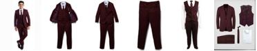 Perry Ellis Little Boy's 5-Piece Shirt, Tie, Jacket, Vest and Pants Solid Suit Set