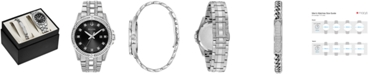 Bulova Men's Stainless Steel Bracelet Watch 42mm Gift Set