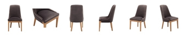 Moe's Home Collection Mia Dining Chair Grey Set of Two