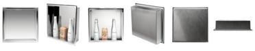 ALFI brand Polished Stainless Steel Square Single Shelf Bath Shower Niche