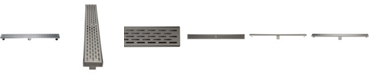 """ALFI brand 36"""" Modern Stainless Steel Linear Shower Drain with Groove Holes"""