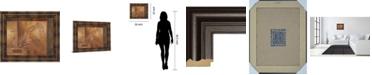 """Classy Art Modern Fern I by Vivian Flasch Framed Print Wall Art, 22"""" x 26"""""""