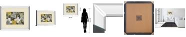 "Classy Art Garden Party in Gray 1 by Lanie Loreth Mirror Framed Print Wall Art, 34"" x 40"""