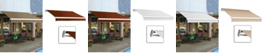 """Awntech 8' Maui Manual Retractable Awning, 78"""" Projection"""