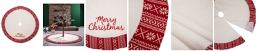 Glitzhome Fleece Christmas Tree Skirt - Merry Christmas