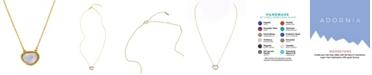 ADORNIA Organic Cut Moonstone and Diamond Necklace