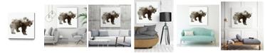 "Giant Art 20"" x 20"" Bear Museum Mounted Canvas Print"