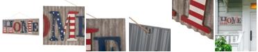 """Glitzhome 36.10""""L Metal-Wooden Patriotic Home Wall Decor"""