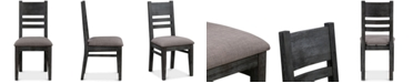 Furniture Avondale Graphite Side Chair, Created for Macy's