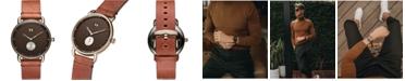 MVMT Men's Nomad Land Brown Leather Strap Watch 41mm