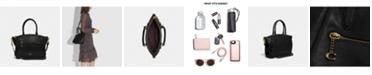 COACH Polished Pebble Leather Elise Small Satchel
