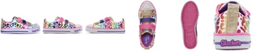 Skechers Little Girls Twinkle Toes Twinkle Lite - Sparkle Spots Stay-Put Closure Light-Up Casual Sneakers from Finish Line