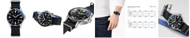 Hamilton Men's Swiss Automatic Khaki Navy Scuba Black Nato Strap Watch 40mm