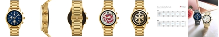 Tory Burch Women's Gigi ToryTrack Gold-Tone Stainless Steel Bracelet Touchscreen Smart Watch 40mm