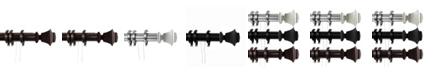 "Rod Desyne Bach Decorative Traverse Rod w/ Rings 84""-156"""