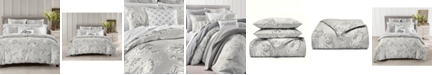 Charter Club CLOSEOUT! Engraved Flower Cotton 300-Thread Count 2-Pc. Twin Duvet Cover Set, Created for Macy's