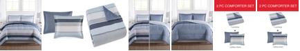 Pem America Marino Stripe Reversible 3-Pc. Comforter Mini Sets, Created for Macy's