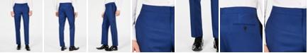 Ryan Seacrest Distinction Men's Slim-Fit Stretch Cobalt Blue Tuxedo Suit Pants, Created for Macy's