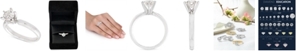 Macy's Certified Diamond Solitaire Ring (1 ct. t.w.) in 14k White Gold