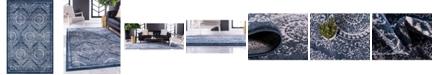 Bridgeport Home Anika Ani3 Navy Blue 8' x 11' Area Rug