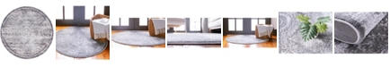 "Bridgeport Home Anika Ani3 Gray 3' 3"" x 3' 3"" Round Area Rug"