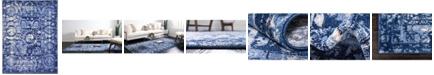 Bridgeport Home Aldrose Ald3 Blue 9' x 12' Area Rug