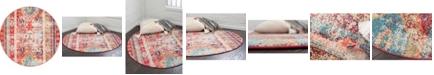 Bridgeport Home CLOSEOUT! Arcata Arc1 Fuchsia 6' x 6' Round Area Rug