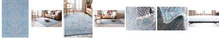 """Bridgeport Home Pashio Pas8 Light Aqua 8' x 11' 4"""" Area Rug"""