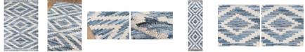 """Novogratz Collection Novogratz California Cal-2 Blue 7'6"""" x 9'6"""" Area Rug"""
