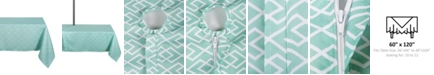 """Design Imports Diamond Outdoor Tablecloth with Zipper 60"""" x 120"""""""