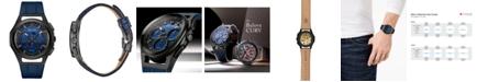 Bulova Men's Progressive Sport Blue Leather Strap Watch 44mm