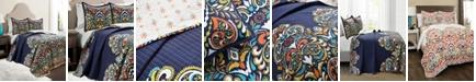 Lush Decor Clara Reversible 3-Piece Full/Queen Quilt Set