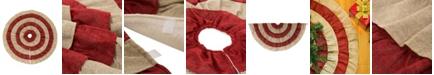 "Glitzhome 48""D Burlap Christmas Tree Skirt"