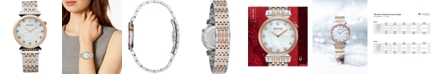 Bulova Women's Regatta Diamond-Accent Two-Tone Stainless Steel Bracelet Watch 30mm