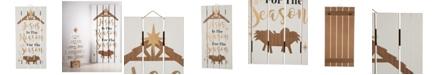 Glitzhome Wooden Nativity Wall Decor