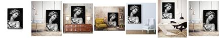 "Giant Art 32"" x 24"" Ornate Sculpture I Art Block Framed Canvas"