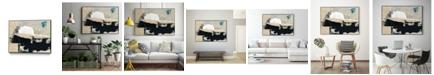 """Giant Art 36"""" x 24"""" Modern Collage VI Art Block Framed Canvas"""