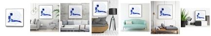 "Giant Art 30"" x 30"" Yoga Flow VI Art Block Framed Canvas"