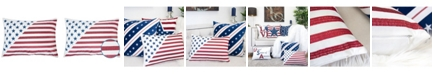 Homey Cozy Flag Independence Day Rectangle Decorative Throw Pillow
