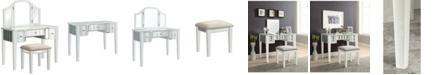 Furniture of America Hicker Mirror Inserted Vanity Set