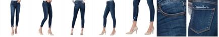 VERVET High Rise Distressed Hem Skinny Crop Jeans
