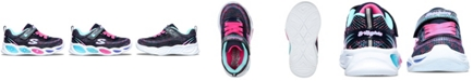 Skechers Toddler Girls S Lights Shimmer Beams Sparkle Glitz Stay-Put Closure Light Up Running Sneakers from Finish Line