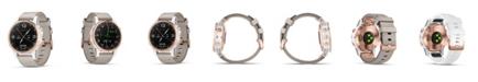 Garmin Unisex D2 Delta S, Aviator watch with beige leather band 42mm