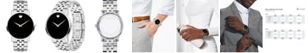 Movado Men's Swiss Museum Classic Stainless Steel Bracelet Watch 40mm