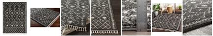 "Surya Berber Shag BBE-2308 Charcoal 5'3"" x 7'3"" Area Rug"