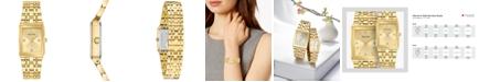Bulova Women's Futuro Diamond-Accent Gold-Tone Stainless Steel Bracelet Watch 20.5x31.5mm