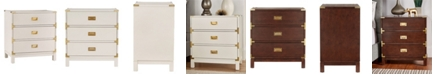 iNSPIRE Q Herley 3-Drawer Gold Accent End Table Nightstand