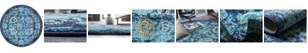 Bridgeport Home Sana San4 Turquoise 8' x 8' Round Area Rug
