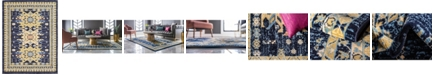 Bridgeport Home Charvi Chr1 Navy Blue 9' x 12' Area Rug